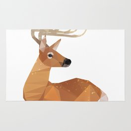 Low Poly White-tailed Deer Rug