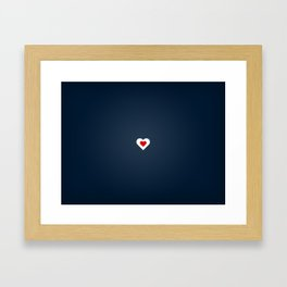 Hearts and soul Framed Art Print