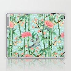 Bamboo, Birds and Blossom - soft blue green Laptop & iPad Skin