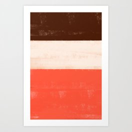 Neopolitan Colors Art Print