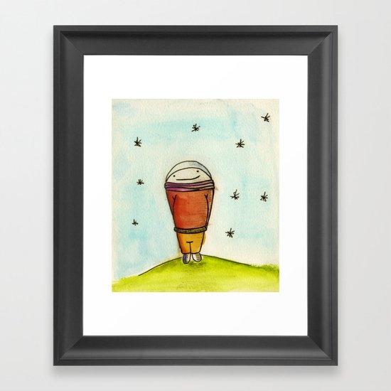Chocho Framed Art Print