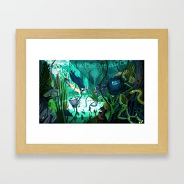 Spying on the Ama Diver Framed Art Print