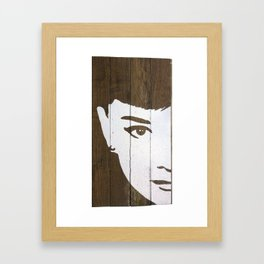 Audrey on Wood Framed Art Print