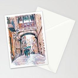 Carrer del Bisbe - Barcelona Stationery Cards