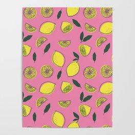 Pink Lemonade Pattern Poster