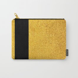 Smart Golden & Black Stripes Carry-All Pouch