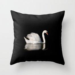 Mute Swan Cygnus olor at lake Throw Pillow