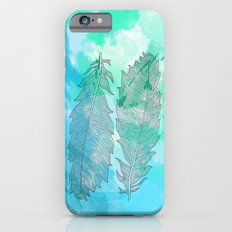 Feathers on Watercolor iPhone 6s Slim Case