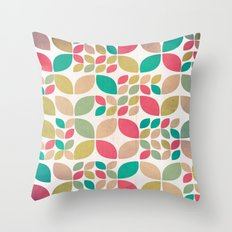 Vintage Spring Pattern Throw Pillow