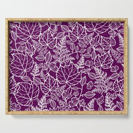 Plum Maple Leaves Serving Tray