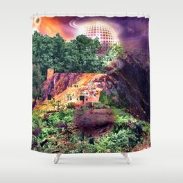 BENEATH THE DESERT MOON Shower Curtain