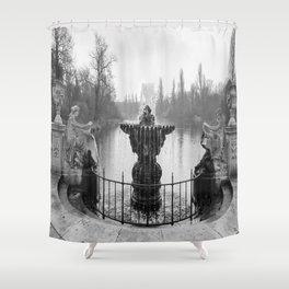 Fountains in Kensington Park of London, England Shower Curtain
