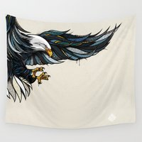 eagle Wall Tapestries featuring Eagle by Andreas Preis