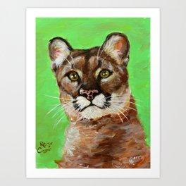 Reise Cougar Youthful Eyes Art Print