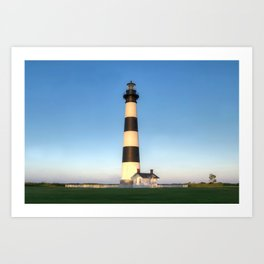 Outer Banks, NC, Bodie Island Lighthouse, Summer Sunset 2015 - OBX  Art Print