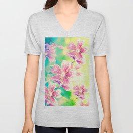 Fresh Spring Flowers Unisex V-Neck