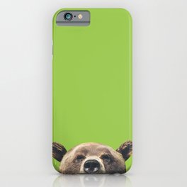 Bear - Green iPhone Case