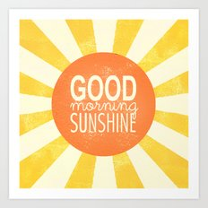 Morning Sunshine Art Print
