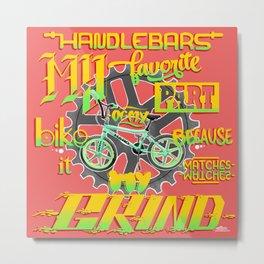 Handlebars Metal Print