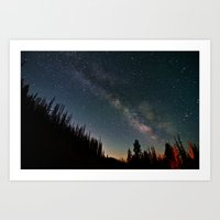 milky way Art Prints featuring Milky Way by Davies Babies Photography