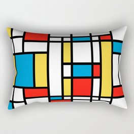Tribute to Mondrian No2 Rectangular Pillow