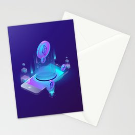 BITCOIN! BLOCKCHAIN CRYPTOCURRENCY FINANCIAL TECHNOLOGY Stationery Cards