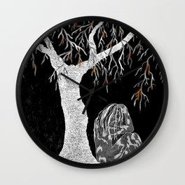 A Branch of Life to Contemplate Wall Clock