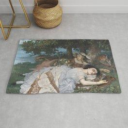 Gustave Courbet - Les Demoiselles des bords de la Seine Rug