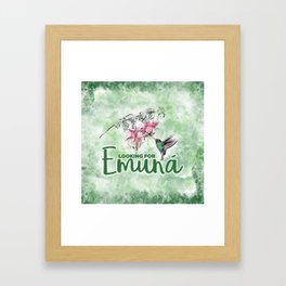 Looking for emunah Framed Art Print