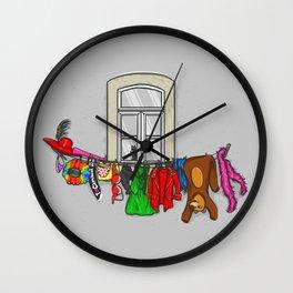 Estendal de Carnaval Wall Clock