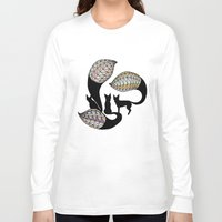 foxes Long Sleeve T-shirts featuring Foxes by Alexandra Boman