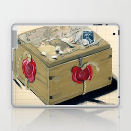 Old French Wood Box in Gouache Laptop & iPad Skin