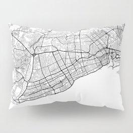 Santo Domingo Map White Pillow Sham