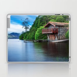 Smooth as Glass Lake and Boathouse Laptop & iPad Skin