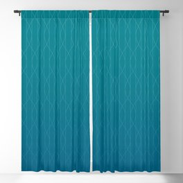 Wave pattern in teal Blackout Curtain
