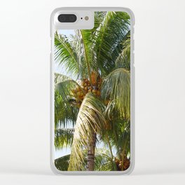 Tecoh Coconuts Clear iPhone Case
