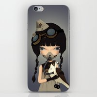 pilot iPhone & iPod Skins featuring pilot by Anne  Martwijit