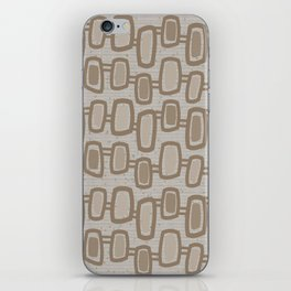 Dangling Rectangles in Brown iPhone Skin