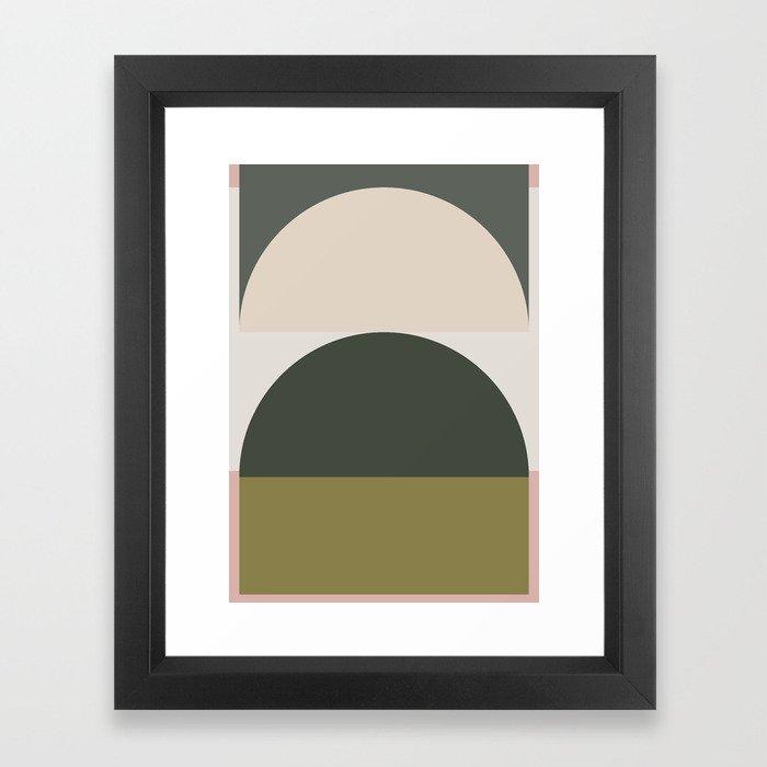 Contemporary Composition 14 Framed Art Print