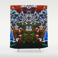 headdress Shower Curtains featuring An Elaborate Headdress by mimulux