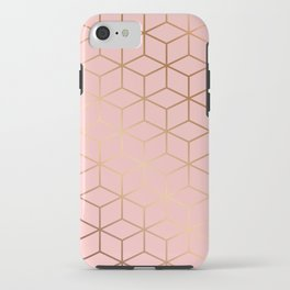 Pink and Gold Geometry 011 iPhone Case