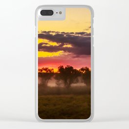 Sunrise above Land of the Leopard Clear iPhone Case
