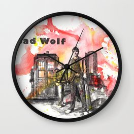 Doctor Who 10th Doctor David Tennant With Companion Rose Tyler Wall Clock