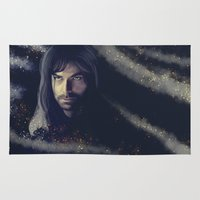 smaug Area & Throw Rugs featuring Kili - The Hobbit the desolation of Smaug (2) by KanaHyde