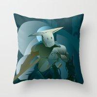 doom Throw Pillows featuring DOOM by orlando arocena ~ olo409- Mexifunk