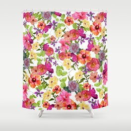 Zariya Flower Garden Shower Curtain