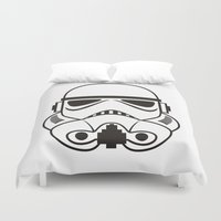 stormtrooper Duvet Covers featuring stormtrooper  by Egor Chepel