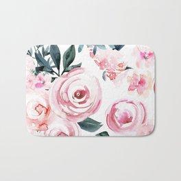 Watercolor Rose Bath Mat