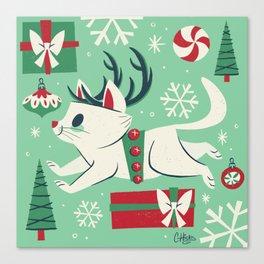 Reindeer Cat Canvas Print