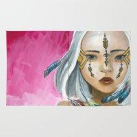 indigo Area & Throw Rugs featuring Indigo by Nataliette